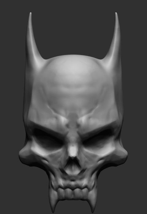 3d bat skull model