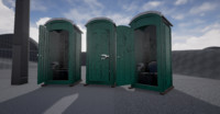 3d model porta-potty portapotty porta