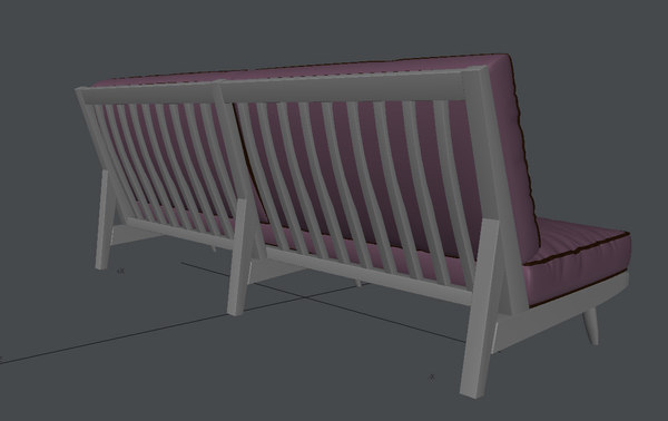 classic folding couch 3d model