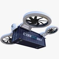 Cargo Quadrocopter Drone Concept