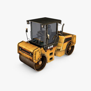 3ds asphalt road roller