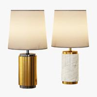 3d model small pillar table lamp