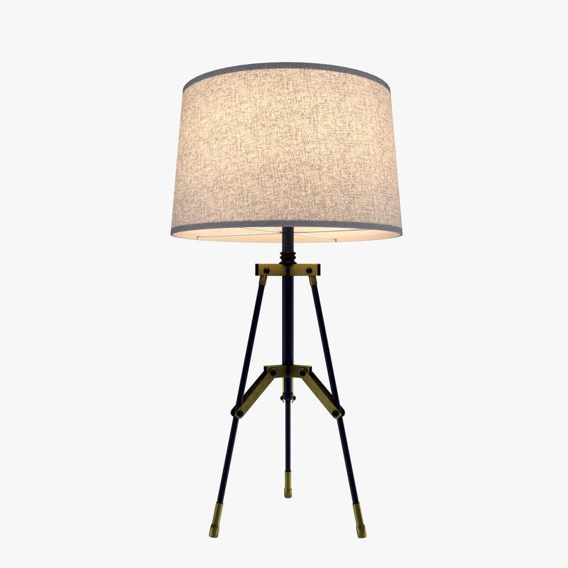 3d table lamp modern - model