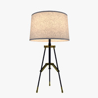 3d table lamp modern - model
