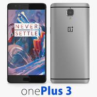 3d oneplus 3 model