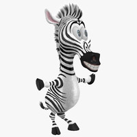 zebra cartoon 3d max