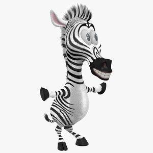 zebra cartoon 3d max