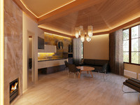 modern sauna interior 3d model