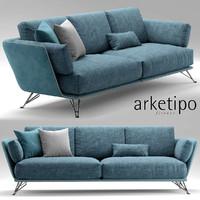 3d arketipo morrison sofa model