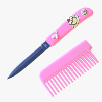 comb knife 3d model