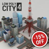Lowpoly city model v.4