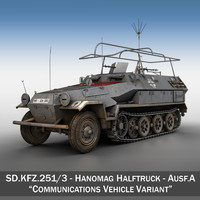 SD.KFZ 251/3 Ausf.A - Communications Vehicle