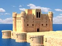 castle building 3d model