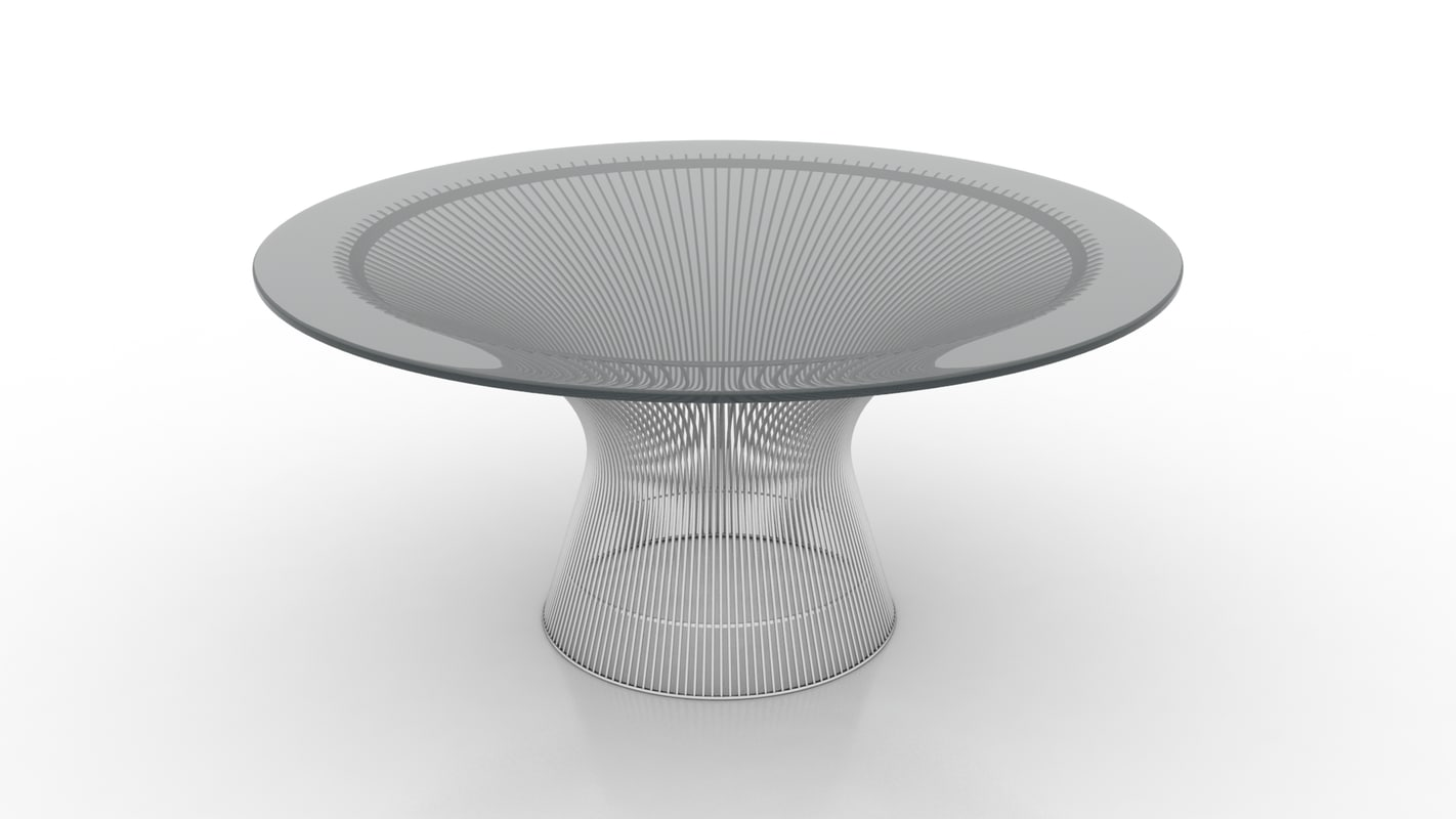 3d obj platner coffee table