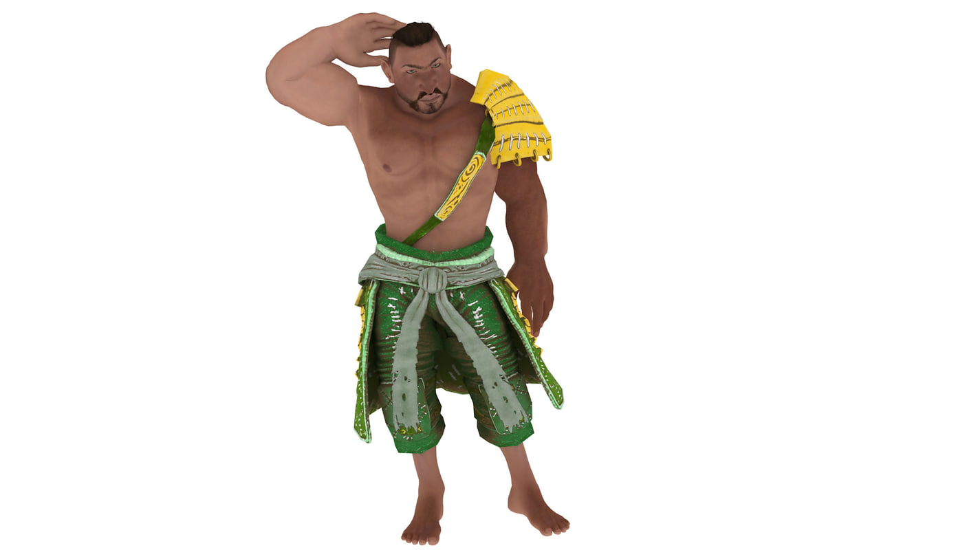 3d asger viking male brute model