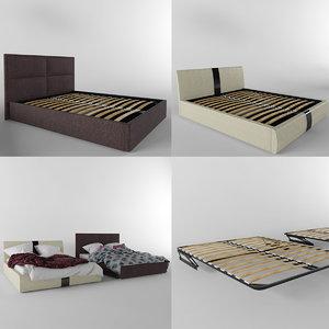 modern beds 3d model
