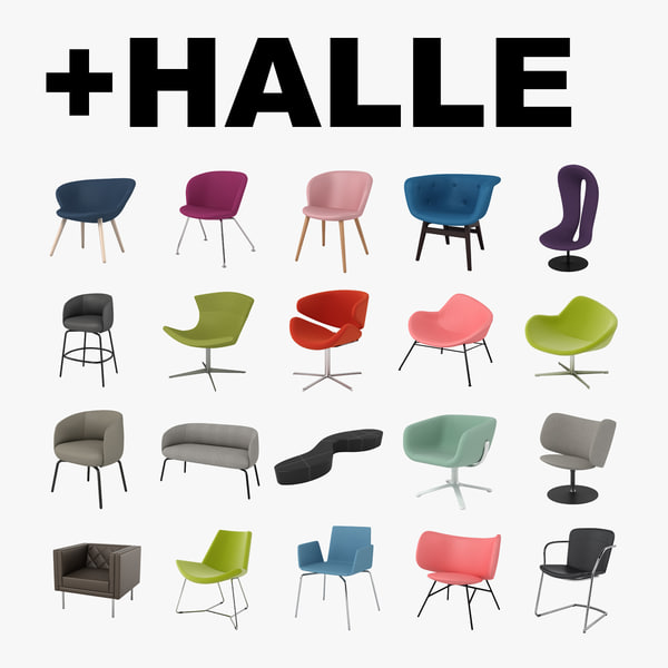 halle chairs 3d model