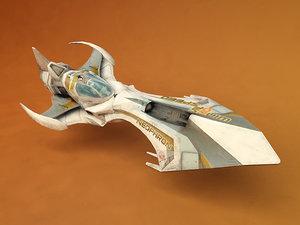 3ds futuristic ship