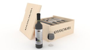 khvanchkara wine 3d model