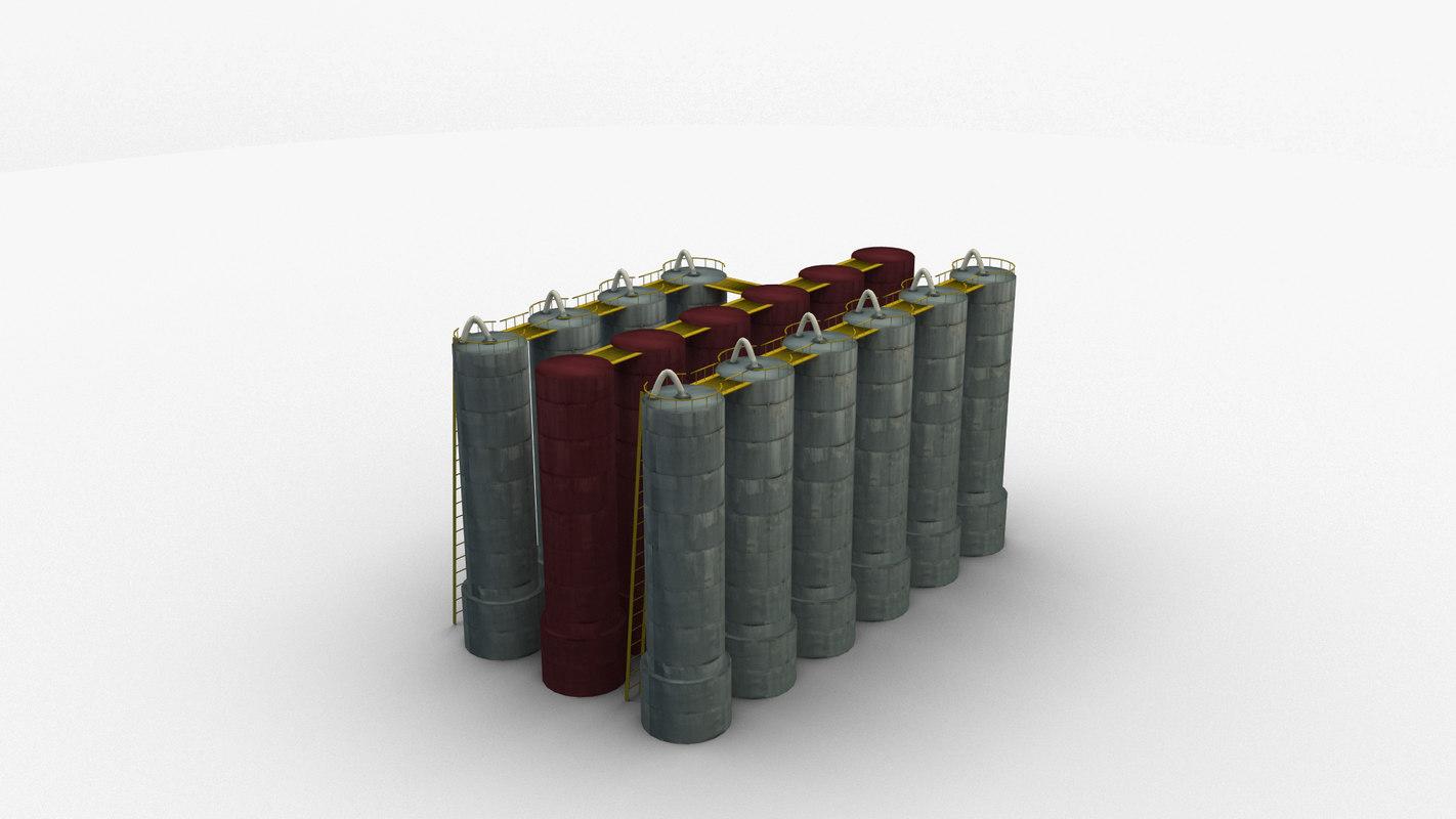 storage oil 3d model