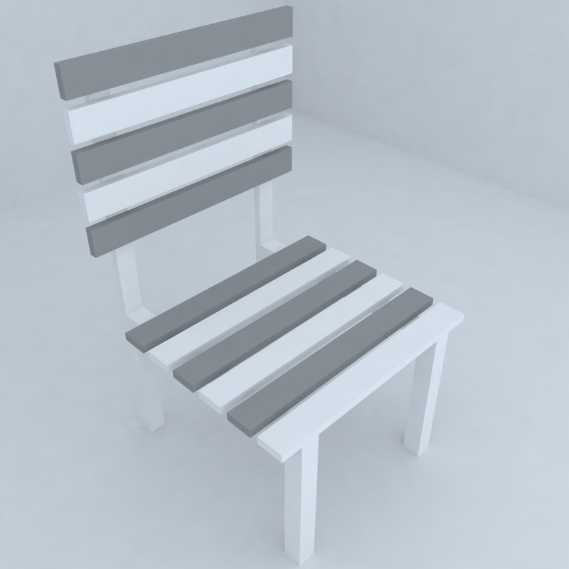 3d model of seat living room