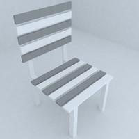 3d model of seat living room