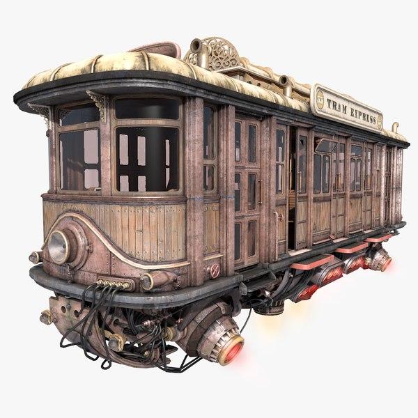 3d model fly fantastic train