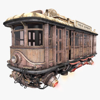 3d model fly fantastic train