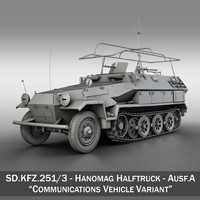 SD.KFZ 251/3 IV Ausf.A - Hanomag Radio and Command Vehilce