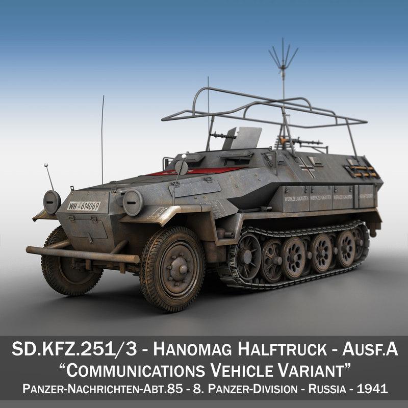 3d model sd kfz 251 3