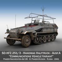 SD.KFZ 251/3 Ausf.A - Communications Vehicle - 8.PD