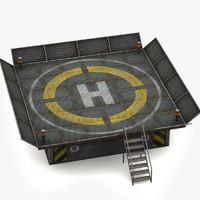 3d model helipad pad