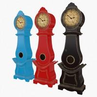 clock mora 3d model