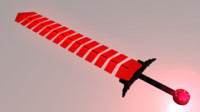 Low-Poly Demon Broadsword