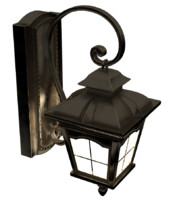 wall lantern bronze 3ds