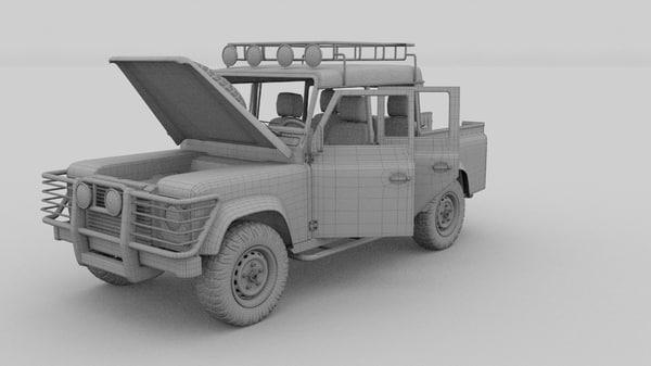 3d land rover defender 110