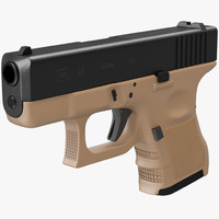 3d glock 26 brown