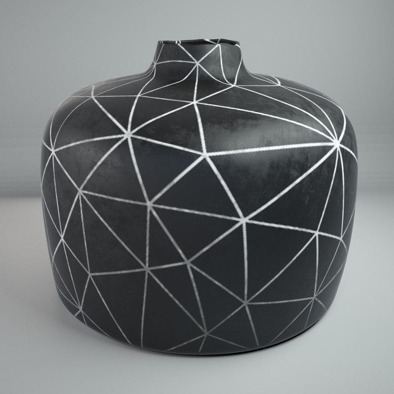 modeled decor vase 3ds