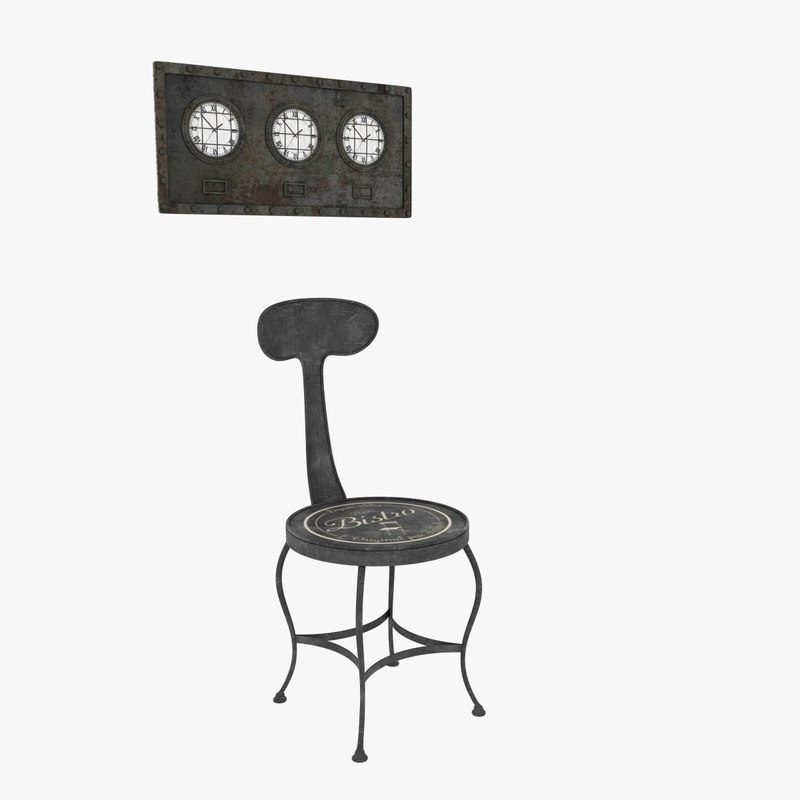 3d metal chair clock