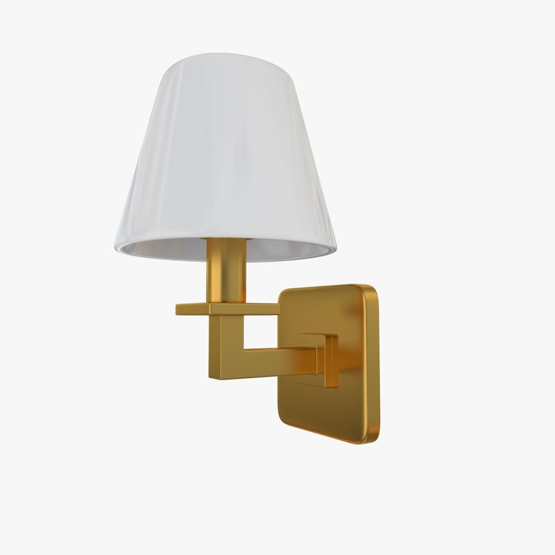 obj wall lamp sconce