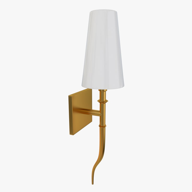 3d model of wall lamp sconce