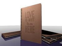3d model mdf notebook