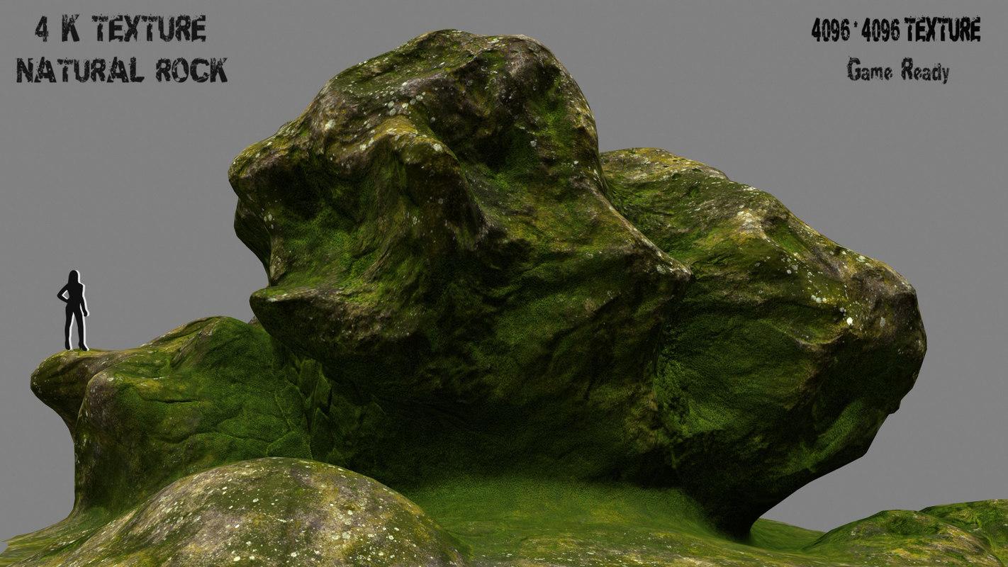 mountain rock 3d obj