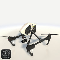 DJI Quadcopter Inspire 1 pro low poly