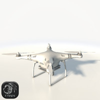 3d model of dji phantom 3 quadcopter
