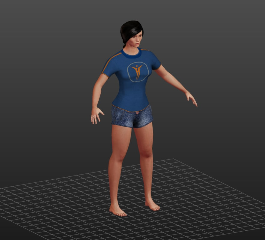 casual girl 3d 3ds