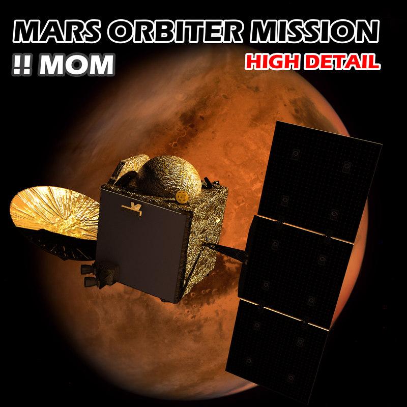 3d mars orbiter mission mom