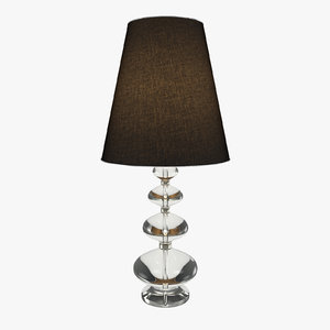 3d model table lamp modern -