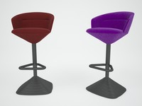 3d pivot bar stool chair model