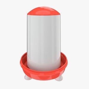 3d model chicken feeder